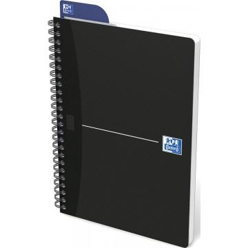 Oxford OFFICE Essentials spiraalblok smart black, 180 bladzijden, A5, geruit 5mm