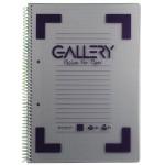 Gallery Traditional spiraalschrift A4, geruit 5mm, geassorteerde kleuren, 160 bladzijden