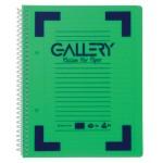 Gallery Traditional spiraalschrift A5, gelijnd, geassorteerde kleuren, 160 bladzijden