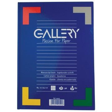 Gallery notitieboek harde kaft, A4, geruit 5mm, 192 bladzijden