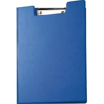 Maul klemmap met kopklem en insteekmap, uit PP, voor A4, blauw