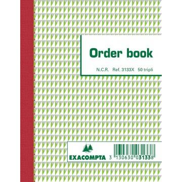 Exacompta orderbook, 13,5x10,5cm, tripli (50x3 vel)