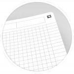 Oxford schrift Office Essentials 17,6 × 25cm, 90 vel, geruit 5mm