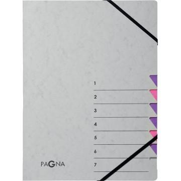 Pagna sorteermap Easy Grey voor A4, 7 vakken, paars