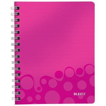 Leitz WOW schrift A5, gelijnd, roze