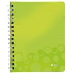 Leitz WOW schrift A5, gelijnd, groen