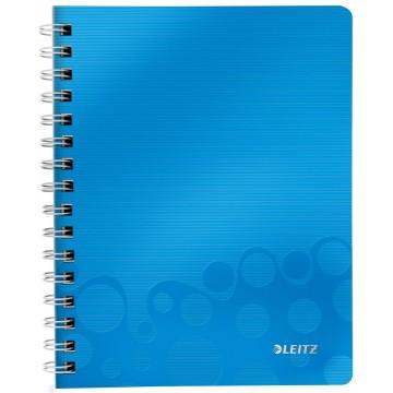 Leitz WOW schrift A5, geruit 5mm, blauw