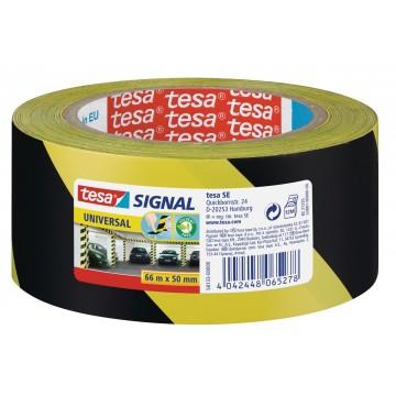 Tesa waarschuwingstape Universal, 50mmx66 m, geel/zwart