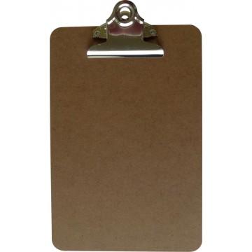 5 Star Klemplaat in hout, A5, met krachtige klem van 7,5cm