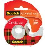 Scotch plakband Crystal 19mmx25 m, clipstrip met 24 stuks