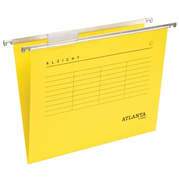 Atlanta hangmappen Alzicht Spectrum A4, V-bodem, geel