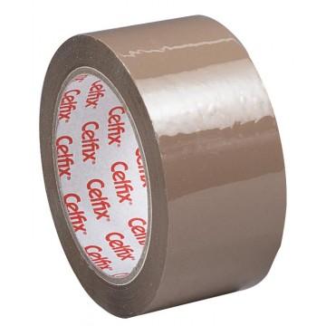 Celfix verpakkingsplakband 50mmx66 m, PP, bruin