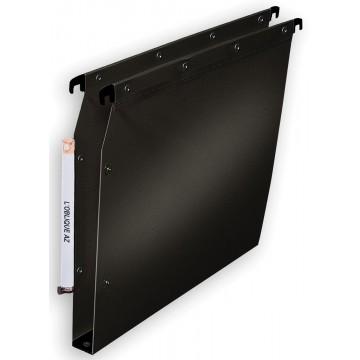 L Oblique hangmappen voor kasten Ultimate bodem 30mm, zwart