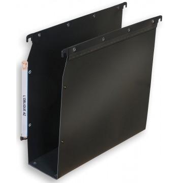 L Oblique hangmappen voor kasten Ultimate bodem 80mm, zwart