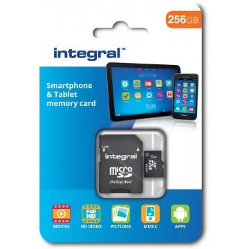 Integral microSDXC geheugenkaart voor smartphones en tablets, klasse 10, 64 GB