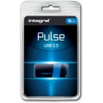 Integral Pulse USB 2.0 stick, 16 GB, zwart/blauw
