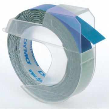 Dymo tape 9mm voor lettertang Omega, blauw