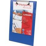 Pergamy klemplaat, voor A4, uit PVC, blauw
