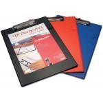 Pergamy klemplaat, voor A4, uit PVC, rood
