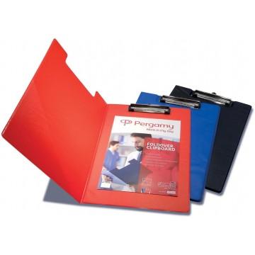 Pergamy klemmap, voor A4, uit PVC, rood