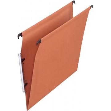 Pergamy hangmap voor kasten, A4 (tussenafstand 330mm), V-bodem, oranje, pak a 25 stuks