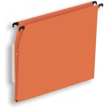 Pergamy hangmap voor kasten, A4 (tussenafstand 330mm), bodem 15mm, oranje, pak a 25 stuks