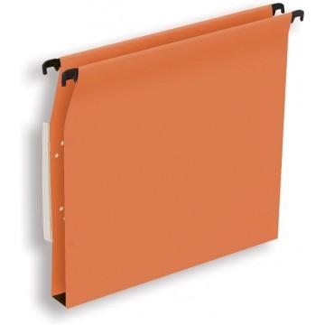 Pergamy hangmap voor kasten, A4 (tussenafstand 330mm), bodem 30mm, oranje, pak a 25 stuks