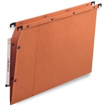 L oblique hangmappen voor kasten AZV V-bodem, oranje