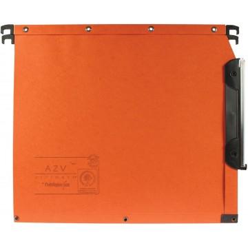 L oblique hangmappen voor kasten AZV bodem 15mm, oranje