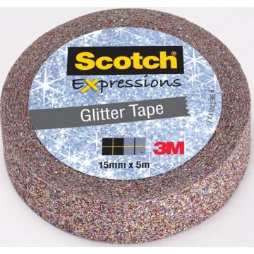 Scotch Expressions glitter tape, 15mmx5 m, multi colored