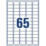 Avery L7551-25 adresetiketten 38,1x21,2mm (bxh), 1.625 etiketten, transparant