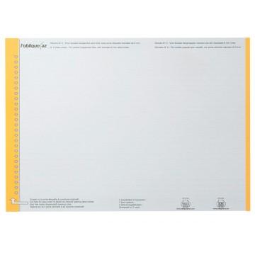 Elba etiketten voor hangmappen voor laden geel, 1 vel met 25 etiketten
