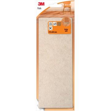 3M beschermende vloerpad, uit vilt, 21,5x8cm