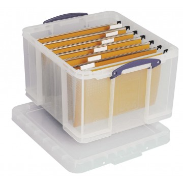 Really Useful Box opbergdoos 42 liter, transparant